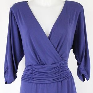 NY Collection Blue Ruched Dress Size 2XP